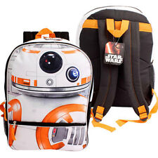 "Star Wars Force Awaken BB8 Backpack 16"" Bag Disney Rucksack Mochila Bolsa Black"