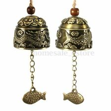 Chinese Dragon/Fish Feng Shui Bell Blessing Good Luck Fortune Hanging Wind Chime