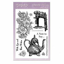 HUNKYDORY CLEARLY STAMPS - ANTIQUE DREAMS STAMP SET (10 Stamps)