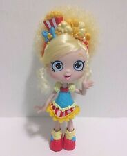 "Shopkins Shoppies Doll Poppette 5"" Retired EUC Blonde with Popcorn Headband"