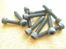 "8-32 UNC x 7/8"" ALLEN CAPHEAD BLACK STEEL SCREW Qty 10"