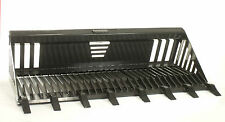 """Skid Steer Rock Bucket Attachment 72"""" Wide With Teeth"""