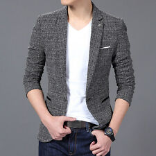 Fashion Men Casual Slim Fit One Button Velvet Suit Blazer Coat Jackets Stylish