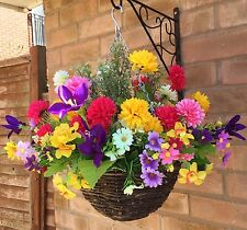New Ready To Hang Artificial Flower Hanging Basket GardenDecoration