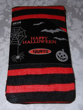 "S/M Black Orange Striped Halloween Tights 5' - 5'6""  95  - 130 lbs NWT"