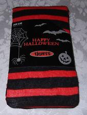 "S/M Black Orange Striped Halloween Tights 5' - 5'6""  95  - 130 lbs NWT"