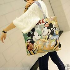 Mickey Mouse Canvas Handbag Tote Big Shopping Shoulder Bag Satchel School Bag