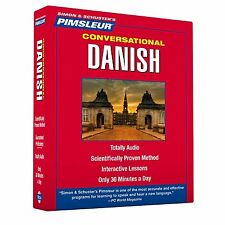 New 8 CD Pimsleur Learn Speak Conversational DANISH Language 16 Lessons