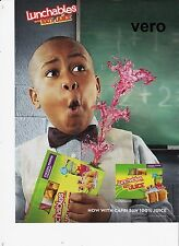 KRAFT LUNCHABLES magazine ad 2015 print clipping boy squirts juice out of box