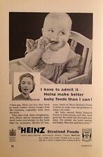 London Heinz Baby Food Vintage Advertising Print Oct 1955 Classic Original Old