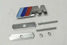 1Pcs ///M Zinc Alloy Metal Auto Vehicle Body Front Grill Grilles Badge Emblem