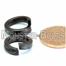 "Qty 10 - 3/8"" HIGH-COLLAR HELICAL Spring Split Lock Washers - Steel Plain Finish"