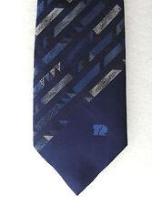 TR Fastenings vintage tie Navy blue Company logo corporate  engineering UNUSED