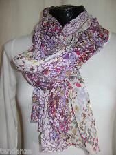 """NEW"" TRANSAT BOUTIQUE CHECHE FOULARD ECHARPE FLEURI COLORE"