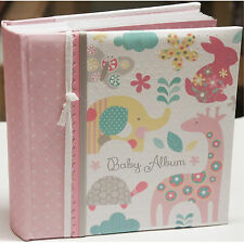 "PEPPERPOT Lullaby Girls Slip-In Baby Photo Album - Holds 200 6"" x 4"" Photographs"