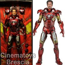 MARVEL The Avengers 1/4 Scale Action Figure Battle Damaged Iron Man w/ LED NECA