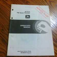 John Deere 46in FM Snow blower OMM88330  F910,F930 Operator book