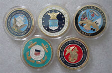 lots of 5 us army usaf navy usmc 24KT GP Commemorative Coin