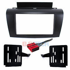 Car Radio Replacement Dash Mounting Installation Kit & Harness 2-DIN for Mazda 3