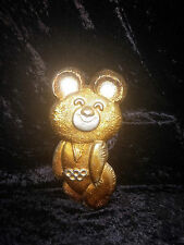 MOSCOW 1980 OLYMPIC GAMES MISHA BEAR MASCOT METAL RELIEF PLAQUE USSR SMALL SIZE