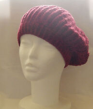 CHARTER CLUB MAROON COLOR KNITTED BERET ONE SIZE