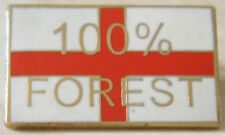 NOTTINGHAM FOREST & ENGLAND Club crest type badge Brooch pin In gilt 25mm x 15mm