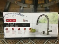 Delta Trask 19933-SPSD-DST Spot Shield Pull Down Kitchen Faucet