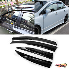 HONDA CIVIC 8 8th MUGEN JDM 4DR Side Window Guard Visor Sun Rain 4pc 2006-2011