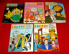 5 Issues 1987 Centrifugal Bumble Puppy #1-5 Underground Pop Comic Book Magazines