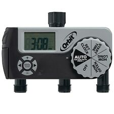 Orbit 56233D 3-Outlet Digital Watering Timer, 3 valves
