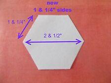 500 Hexagonal Plantillas Para Patchwork-Papel-Nuevo Tamaño uno y 1/4 de pulgada Lateral