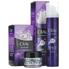 OLAY AGE DEFYING Eye Gel 15ml + Firm and Lift 2 in 1 50ml Day Cream - Serum 40+