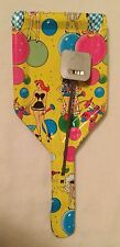 Vintage Multi Colored Unmarked Pan Style Metal Noise Maker Halloween?