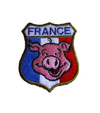 Ecusson patch France brodé airsoft paintball original cochon themocollan