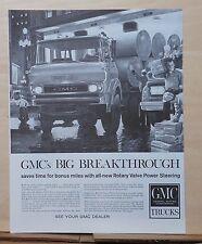 1960 magazine ad for GMC Trucks - Breakthrough Rotary Valve Power Steering