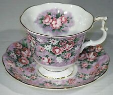 VTG ANTIQUE ROYAL ALBERT GAY DAY TEA CUP AND SAUCER GARDEN PARTY BONE CHINA