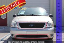 GTG, 2004 - 2007 FORD FREESTAR SE 2pc BLACK UPPER & BUMPER BILLET GRILLE KIT