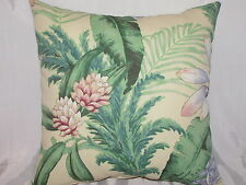 "DECORATIVE THROW PILLOW  CUSHION COVER 17"" FLORAL INDOOR OUTDOOR"