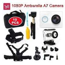 White Xiaomi Yi Helmet Action Wifi Camera Cam+10 in1 Spare Kit+Waterproof Case