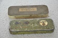 2 Pc Vintage Sun Goggles Ad Litho Tin Boxes , Japan