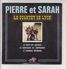 """QUARTET DE LYON Vinyl 45T 7"""" EP PIERRE ET SARAH - Disc AZ 1270 F Rèduit RARE"""