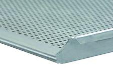 Backblech 60/40 x 3x2cm Rand gelocht Alublech Profiqualität Rand drei Seiten 90°