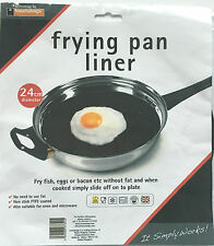 FRYING PAN LINER – 24cm DIAMETER - FRY EGGS FISH BACON WITHOUT FAT