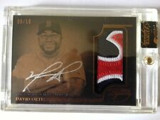 2014 Topps Dynasty David Ortiz Red Sox 3-Color Patch AUTOGRAPH/AUTO 8/10