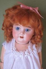 """perruque Mohair poupée Bleuette-17.5/18cm-Fait en FRANCE- Mohair doll wig Sz7"""""""