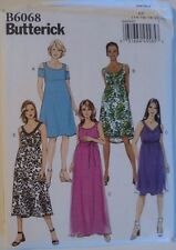 Butterick Misses' Maternity Dress & Belt Sewing Pattern 6068 Size 14-22 UNCUT