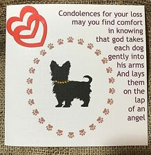 Personalised Handmade ' Sorry For The Loss Of Your Dog' Card