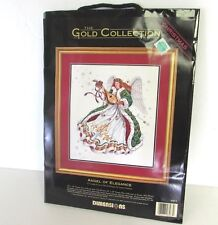 DIMENSIONS GOLD COLLECTION ANGEL OF ELEGANCE CHRISTMAS CROSS STITCH KIT NEW