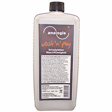Analogis Wash 'n' Play Vinyl records Cleaning fluid 1 Litre (6164) NEW