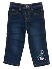 NEW Hello Kitty Baby Girls Jeans Size 18 Months Blue Denim